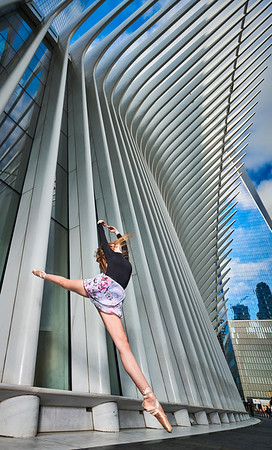 Aug 17, 2019 - New York, NY  Dancer Dakota Skye Blake captured Downtown New York  Wearing Danz N Motion by Danshuz  and Sanjell wrap skirt  Photographer- Robert Altman Post-production- Robert Altman