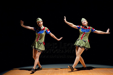 'Boogie Woogie Bugle Boy' performed by Glimmer (Jehn Benson and Connie Moore). Choreography: Jehn Benson