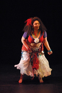 'A Tribal Dancer At Carnaval' choreographed and performed by Bianca F. McCarthy.