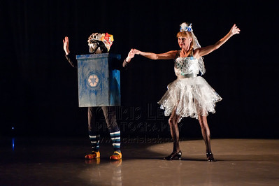 'Garbage Man' performed by Mythobolus Mask Theatre. Choreography: Mija and Maranee Sanders
