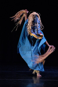 """""""The African Spirit"""" performed by Mythobolus Mask Theatre. Dance Coalition of Oregon Blue Sky Concert, May 22, 2005."""