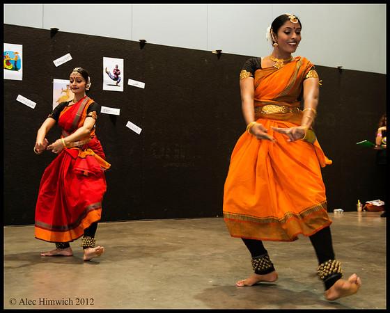Ramya Sundaresan Kapadia and ??<br /> <br /> Indian Dance Demonstration<br /> Raleigh International Festival<br /> Raleigh, NC<br /> September 29, 2012