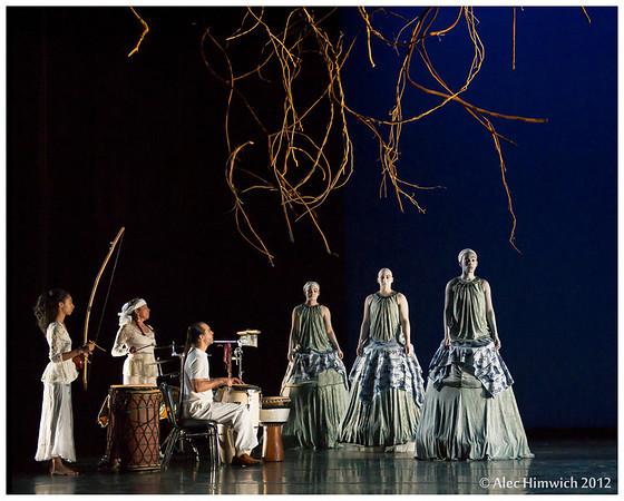 Reaching Into the Before-Time<br /> Choreography: Ava LaVonne Vinesett<br /> Set Installation: Cici Stevens<br /> Music: Richard J. Vinesett, Bevery Botsford, Oesa Sa Vionne Vinesette<br /> Dancers: Rebecca (Becky) Holmes, Tria S(mother)s, Anikia Tucker<br /> <br /> <br /> Dress Rehearsal<br /> 2012 November Dances<br /> Duke Dance Program<br /> Duke University<br /> Durham, NC<br /> February 15, 2012