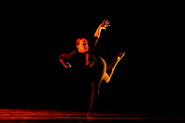 """Shifting Sands<br /> <br /> Choreographed and danced my Monica Hogan Thysell<br /> Music: """"The Crumbling"""" by Valgeir Sigurðsson<br /> <br /> Shifting Sands is inspired by the writings of Greek philosopher Heraclitus and the notion of change as life's constant. Influenced by these texts, the piece examines navigating the unpredictable and finding peace in uncertainty.<br /> <br /> Choreolab 2018<br /> Duke Dance Program<br /> Reynolds Industry Theater<br /> Durham, NC<br /> April 11, 2018"""