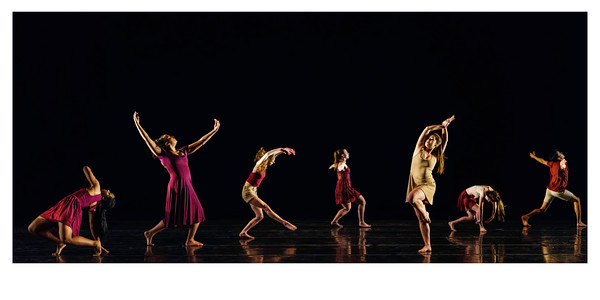 "Arc of Time<br /> <br /> Choreographed by Barbara Dickinson and the dancers<br /> <br /> Music: Selections from ""s_traits"" composed by Bill Seaman and John Supko<br /> Danced by Gabrielle Cooper, Onastasia Ebright, Sierra Hodges, Megan Mauro, Ashlynn Miller, Riley Reardon, Anika Richter<br /> <br /> Arc of Time is inspired by Richard Serra's public artwork, ""Tilted Arc,"" and by Caribbean philosopher Édouard Glissant who stated that solidarity does not mean an individual's difference or ""opacity"" is erased. The title reflects the ebb and flow of power, and our consequent response for justice and morality in our world today.<br /> <br /> Choreolab 2018<br /> Duke Dance Program<br /> Reynolds Industry Theater<br /> Durham, NC<br /> April 12, 2018"
