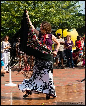 Carolina Flamenco at Durham's CenterFest<br /> <br /> September 15, 2012<br /> Durham, NC