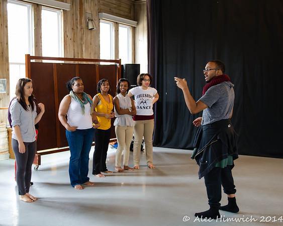 "Workshop led by Marcus White<br /> ""WERK!"" Definitions of ""Black/Queer"" Dance Performance<br /> <br /> Dancing the African Diaspora<br /> <br /> Duke University<br /> Durham, NC<br /> February 8, 2014"