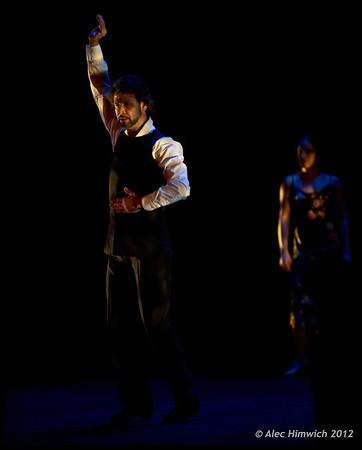Dancers: Antonio Hidalgo, Leslie Roybal<br /> Flamenco Vivo <br /> <br /> Page Auditorium<br /> Duke University<br /> Durham, NC<br /> February 11, 2012<br /> 153