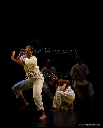 We Leave Behind<br /> <br /> Choreography by Ava  LaVonne Vinnesett<br /> Music:  John Hanks, Oesa S. VInesett, Richard J. Vinnesett<br /> Dancers: Thaddeus Bennett, Destani Bizune, Ellen Brown, Danika Manso-Brown, Chanelle (Cici) Croxton  <br /> <br /> November Dances 2011<br /> Duke University<br /> Durham, NC<br /> November 10, 2011