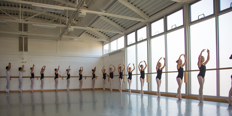 Class at the Washington Ballet
