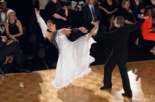Bob dancing with Candace Hornsby for 2012 HEALS Charity, raising over $160,000 to provide free medical and dental care to underpriviliged children.  (Both Debbie and I trained this non-dancer to perform this elegant Foxtrot)