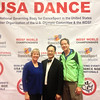 Debbie & Bob with Yang Chen (President of the New York chapter and the best Master of Ceremonies for USA Dance) at the 2013 National Championships