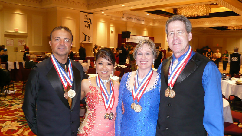 2010 Gumbo DanceSport Championships - With our good friends and fellow-dancers, Carmine and Maria who won 1st in Senior 1 Gold Smooth and 1st in Senior 1 Gold Rhythm