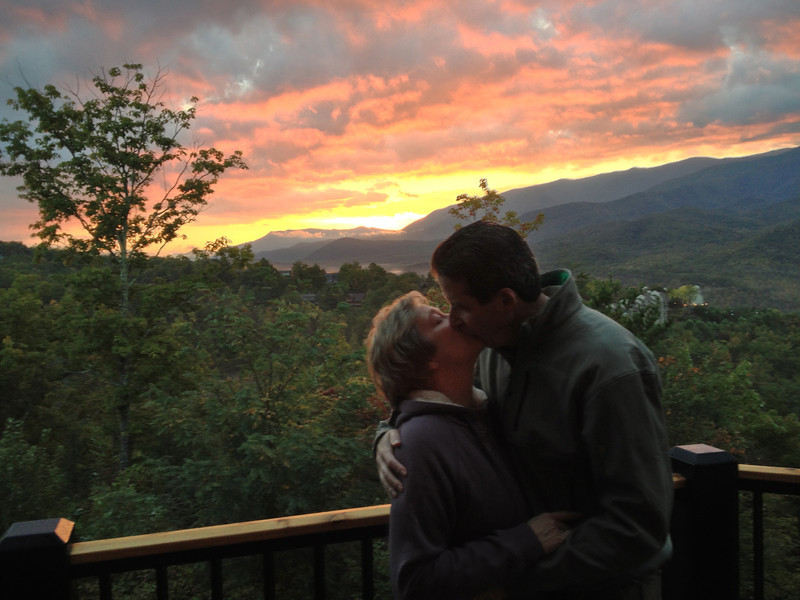 Sunrise kiss in beautiful Gatlingburg after the Carolina Classic.  (Picture taken with an iPhone 4s.)