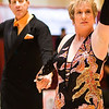 2011 Gumbo DanceSport Championships - 3rd in Senior 3 American Smooth.  Gorgeous woman in a gorgeous dress.