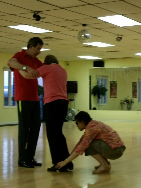 Teaching a blind girl to dance