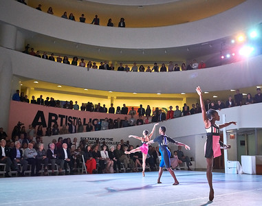 Sept.30,  2019 - New York, NY   The Guggenheim Museum's Works and Process series presents- Rotunda Project: Dance Theatre of Harlem at 50  To celebrate the Guggenheim building's 60th and Dance Theatre of Harlem's 50th anniversaries, Works & Process will present a Rotunda Project with the Dance Theatre of Harlem. The company will pay tribute to its history performing a restaging of Tones, with music by Tania León; the first three themes from choreographer George Balanchine's The Four Temperaments, with music by Paul Hindemith; and Dance Theatre of Harlem Resident Choreographer Robert Garland's Nyman String Quartet #2, with music by Michael Nyman.  Photographer- Robert Altman Post-production- Robert Altman