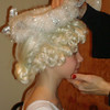 Nutcracker at the Fox - Placing the halo on the Tree Angel Wig
