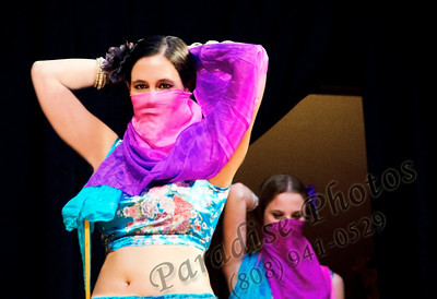 Belly dancer scarf face rw6838