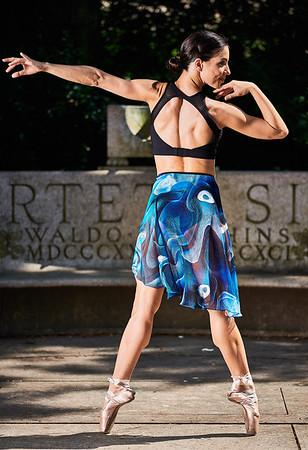 Aug 4, 2019 - New York, NY  Dancer Dayanis Mondeja captured in Central Park NYC Wearing Danz N Motion by Danshuz  and Sanjell wrap skirt  Photographer- Robert Altman Post-production- Robert Altman