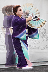 I was impressed with the fan twirling segment of this dance, so made this image by merging 5 photos taken with a burst.