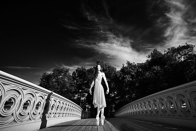 June 15, 2019 - New York, NY  Dancer Emily Sarkissian captured in New York's Central Park  Photographer- Robert Altman Post-production- Robert Altman