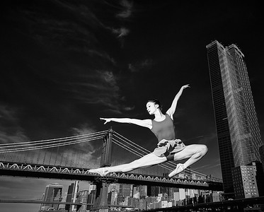 June 9, 2019 - New York, NY  Dancer Emily Sindoni captured along  New York's lower East River waterfront …  Photographer- Robert Altman Post-production- Robert Altman