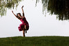Erica dancing on the grassy knoll