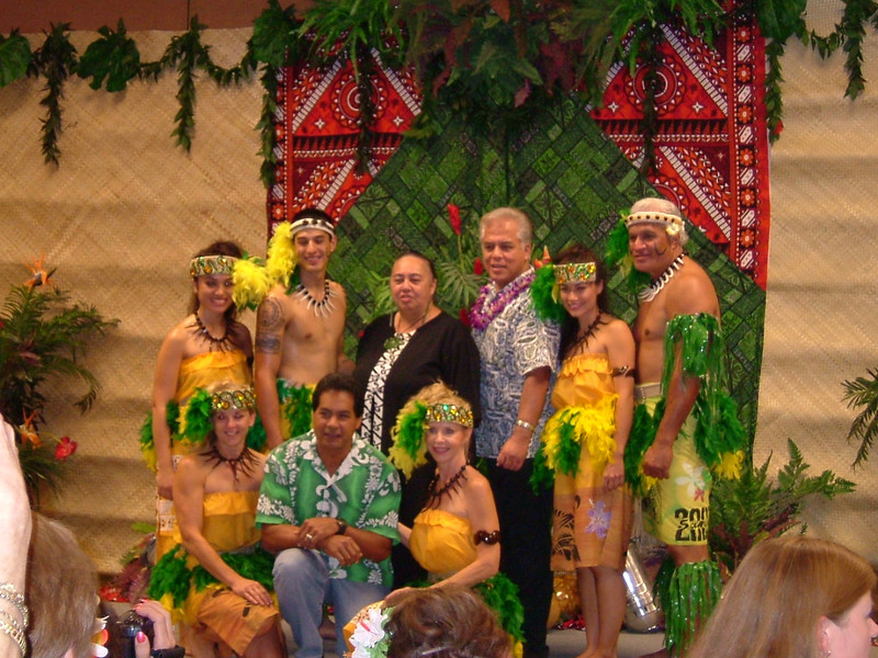 Woman in black is Charlene Lum (Maori instructor), behind Charlene is Cy Bridges, Kumu Hula and Master Chanter, Pesi is last gentleman to right on upper row.  Kneeling in green and white shirt is Kumu Hula Keith Awai.