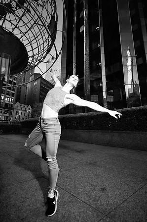 April 24, 2019 - New York, NY -  Femke Aaldering captured in NYC Columbus Circle/Time Warner  © Robert Altman  Photographer- Robert Altman Post-production- Robert Altman