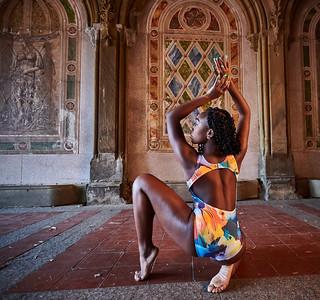 Oct. 26,  2019 - New York, NY   From Artist to Artist ( Lore Perez) Clothing shoot -  Central Park  Dancers-  Lore Perez Irene Sivianes Sunhi Keller Zipporah  Photographer- Robert Altman Post-production- Robert Altman
