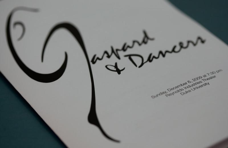 20091206 Gaspard and Dancers - 0 Program (6715nn, 504p, c2009 Dilip Barman)