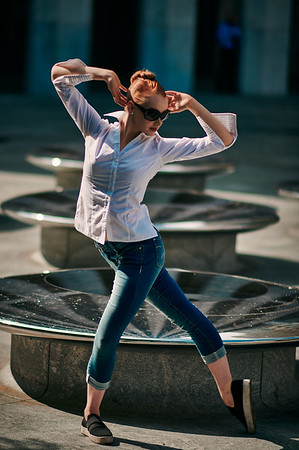 July 25 2020- Brooklyn, NY   Dancer Graceanne Pierce captured in Midtown Manhattan and Central Park  Photographer- Robert Altman Post-production- Robert Altman