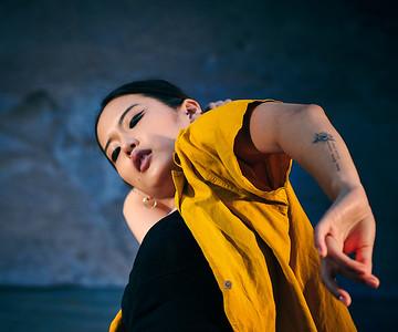 Aug. 8 2020-Bushwick, NY   Dancer/Model Soyeon Haze Kim captured in Bushwick Brooklyn NY  Photographer- Robert Altman Post-production- Robert Altman