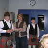 Our piper, David, his mom, and his brother the drummer
