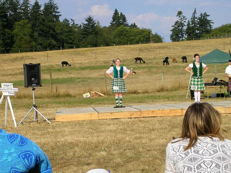 Here I am dancing at the Whidbey Island Highland Games 2004.  I'm standing ready to dance the Highland Fling.