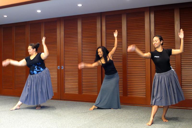 Maui Miss Aloha Hulas for MMF 50th anniversary. (Hoku)
