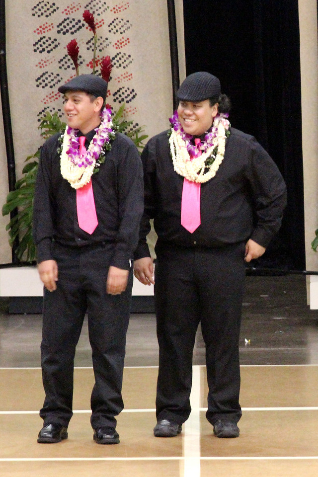 Kumu Lono and Ke'ano @ Kamehameha Day 2012 (HH)