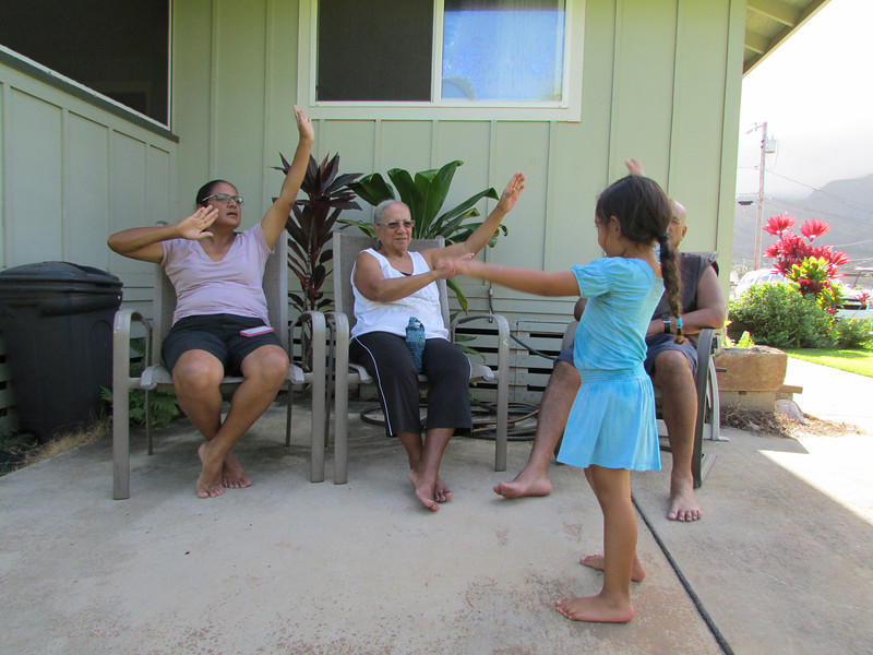 Hula through the generations.<br /> (Momi)