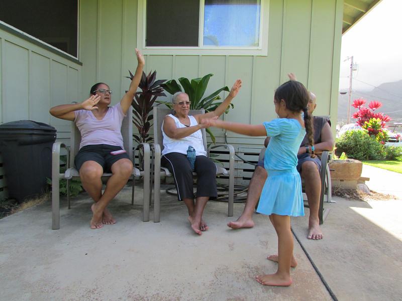 Hula through the generations.<br /> (Momi)