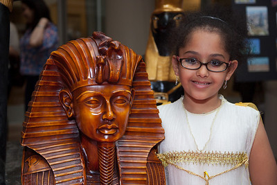 Noreen (age 9) at the Egyptian booth