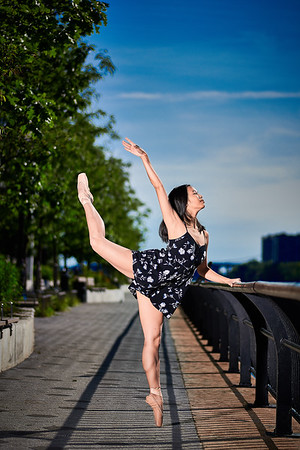 June 23, 2019 - New York, NY  Dancer  Kaila Gibson-Okunieff -captured along New York's East Side  Photographer- Robert Altman Post-production- Robert Altman