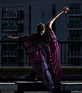 April 14, 2020- New York, NY    Artist /Performer/Juggler Kelsey Strauch captured on a rooftop in NY  Photographer- Robert Altman Post-production- Robert Altman