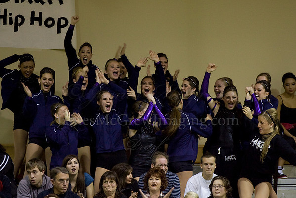 The moment the announcer said that they won first place in Jazz at Fall Championships.