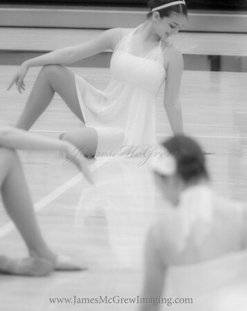Jacqueline in the Start of the Natural Woman Jazz routine for Nationals