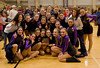 After winning their trophies for first in each category at their first competition of the season.