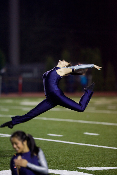 Calypso at the start of the Jazz routine performed at a playoff game half time show.