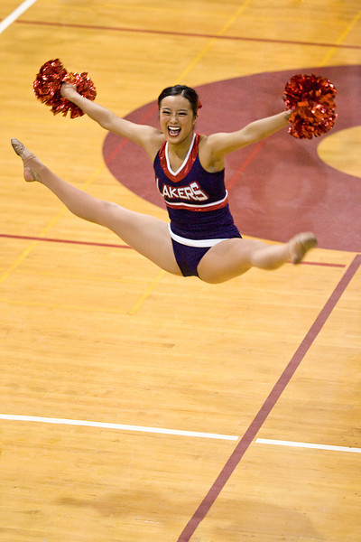 Ann's AMAZING center leaps in the pom routine at Fall Championships.  ©2012 James McGrew