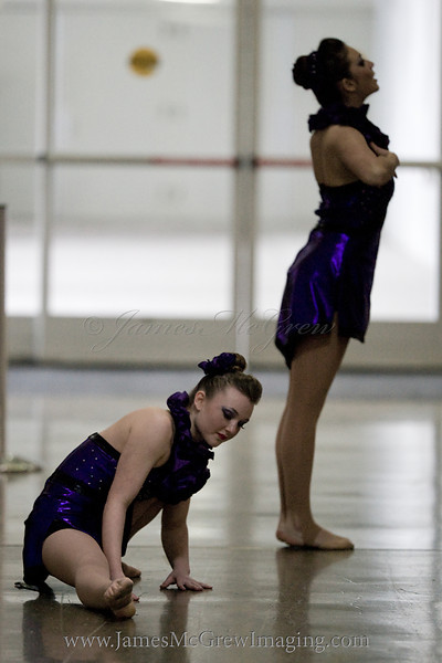 Callie Shaw and Jacqueline McGrew warming up before their performance.<br /> <br /> _D9E4256