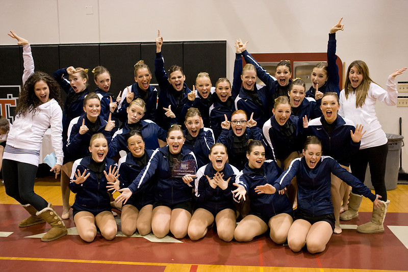 First Place trophy and LODT record high score in Jazz; Fall Championships